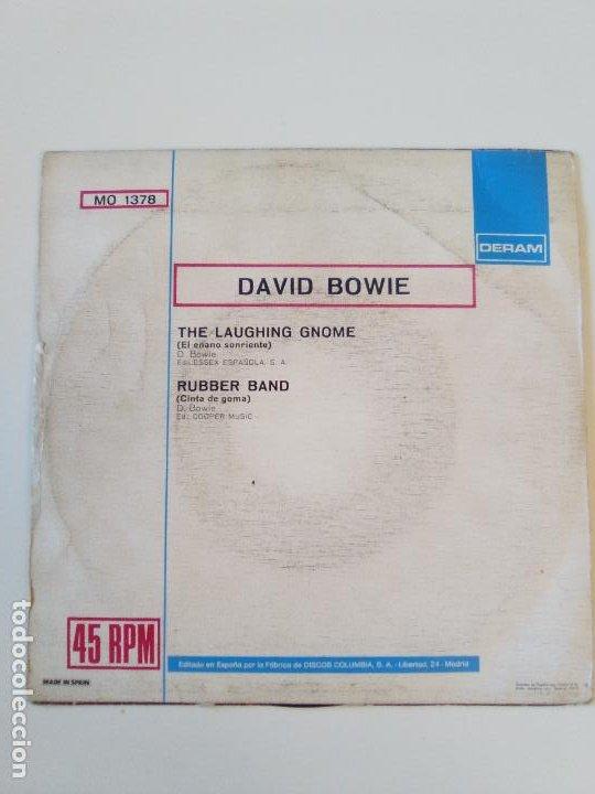 Discos de vinilo: DAVID BOWIE The laughing gnome / Rubber band ( 1973 DERAM ESPAÑA ) - Foto 3 - 195362962