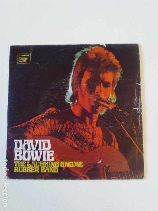 DAVID BOWIE THE LAUGHING GNOME / RUBBER BAND ( 1973 DERAM ESPAÑA ) (Música - Discos - Singles Vinilo - Pop - Rock - Extranjero de los 70)