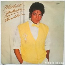 Discos de vinilo: MICHAEL JACKSON. THRILLER/ THINGS I DO FOR YOU. EPIC, SPAIN 1981 SINGLE. Lote 195363786