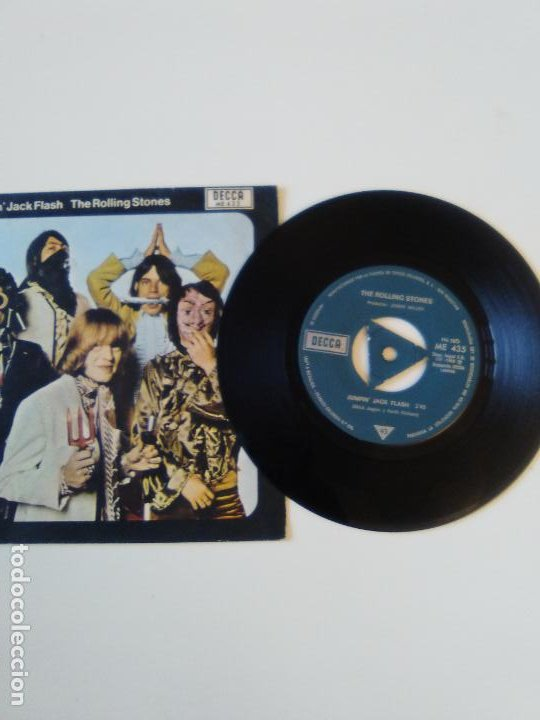 Discos de vinilo: THE ROLLING STONES Jumpin Jack Flash / Child of the moon ( 1969 DECCA ESPAÑA ) - Foto 3 - 195363798