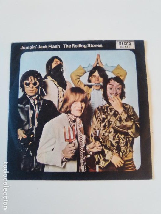 THE ROLLING STONES JUMPIN JACK FLASH / CHILD OF THE MOON ( 1969 DECCA ESPAÑA ) (Música - Discos - Singles Vinilo - Pop - Rock Extranjero de los 50 y 60)
