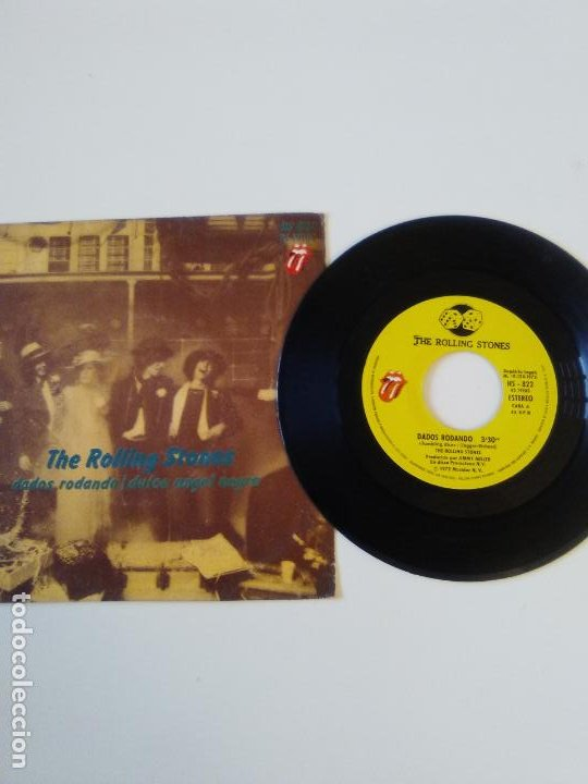 Discos de vinilo: THE ROLLING STONES Dados rodando Tumblin dice / Sweet black angel ( 1972 ROLLING STONES RECORDS SP ) - Foto 3 - 195364011