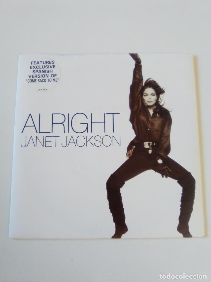 JANET JACKSON ALRIGHT SPANISH VERSION ( 1989 A&M UK ) (Música - Discos - Singles Vinilo - Funk, Soul y Black Music)