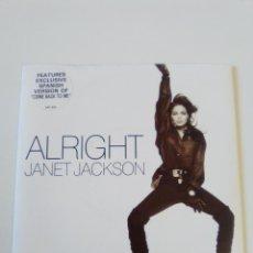 Discos de vinilo: JANET JACKSON ALRIGHT SPANISH VERSION ( 1989 A&M UK ). Lote 195364433