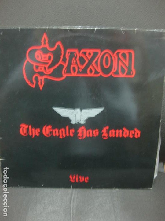 SAXON. SAXON LIVE. THE EAGLE HAS LANDED. 1982. (Música - Discos - LP Vinilo - Heavy - Metal)