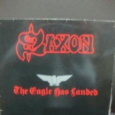 Discos de vinilo: SAXON. SAXON LIVE. THE EAGLE HAS LANDED. 1982.. Lote 195364626