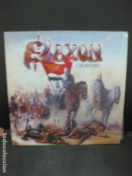 SAXON. CRUSADER. LP 1984. (Música - Discos - LP Vinilo - Heavy - Metal)