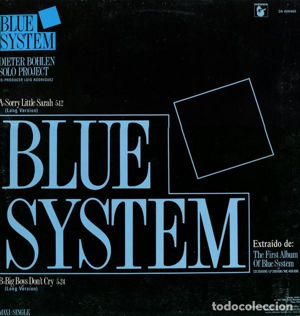 Discos de vinilo: BLUE SYSTEM - SORRY LITTLE SARAH - MAXI-SINGLE SPAIN 1987 - Foto 2 - 195365705