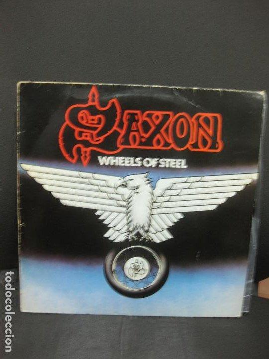 SAXON. WHEELS OF STEEL. LP. 1980. (Música - Discos - LP Vinilo - Heavy - Metal)