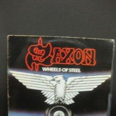 Discos de vinilo: SAXON. WHEELS OF STEEL. LP. 1980.. Lote 195365760