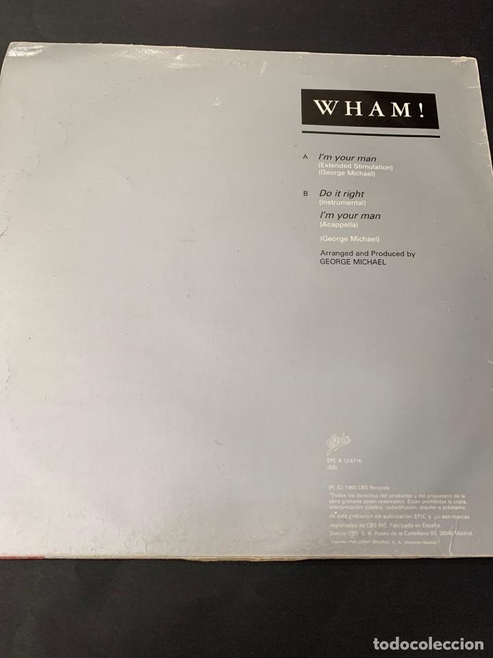 Discos de vinilo: (VIN544) WHAM IMYOURMAN ( vinilo Segunda mano ) - Foto 2 - 195367332