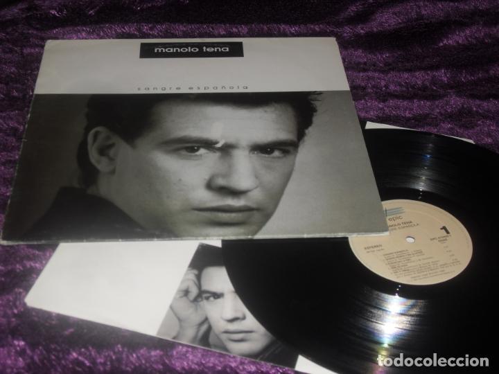 MANOLO TENA LP. SANGRE ESPAÑOLA. MADE IN SPAIN. 1992. (Música - Discos - LP Vinilo - Grupos Españoles de los 70 y 80)