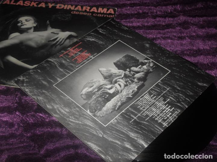 Discos de vinilo: ALASKA Y DINARAMA LP. DESEO CARNAL. MADE IN SPAIN. 1984. - Foto 2 - 195368495