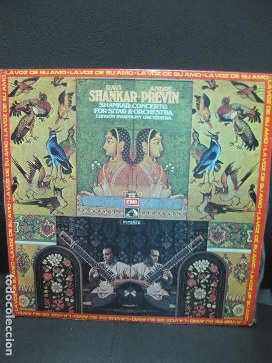 RAVI SHANKAR - ANDRE PREVIN. LONDON SYMPHONY ORQUESTRA. LP 1972 (Música - Discos - LP Vinilo - Étnicas y Músicas del Mundo)