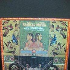 Discos de vinilo: RAVI SHANKAR - ANDRE PREVIN. LONDON SYMPHONY ORQUESTRA. LP 1972. Lote 195373296