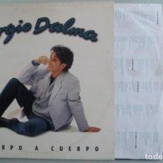 Discos de vinilo: SERGIO DALMA - CUERPO A CUERPO (LP POLYGRAM 1995). Lote 195375546