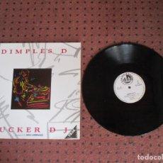 Discos de vinilo: DIMPLES D - SUCKER DJ - MAXI - SPAIN - BLANCO Y NEGRO - LV - . Lote 195376228