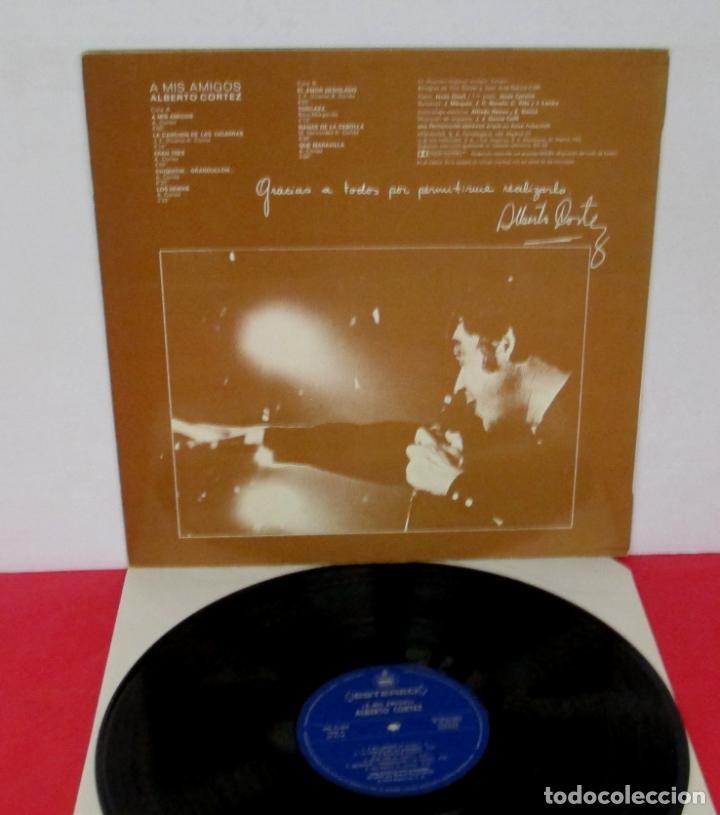 Discos de vinilo: ALBERTO CORTEZ - A MIS AMIGOS - LP - HISPAVOX 1975 SPAIN HHS 11-304 - Foto 2 - 195378773