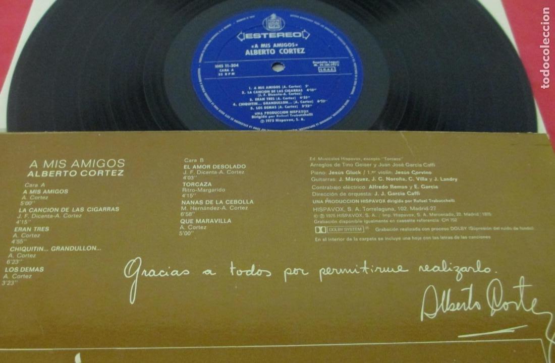 Discos de vinilo: ALBERTO CORTEZ - A MIS AMIGOS - LP - HISPAVOX 1975 SPAIN HHS 11-304 - Foto 3 - 195378773