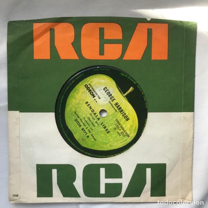Discos de vinilo: George Harrison – Bengala Libre / Profunda Tristeza 1971 ARGENTINA - Foto 2 - 195379618