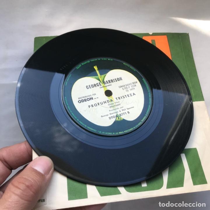 Discos de vinilo: George Harrison – Bengala Libre / Profunda Tristeza 1971 ARGENTINA - Foto 3 - 195379618