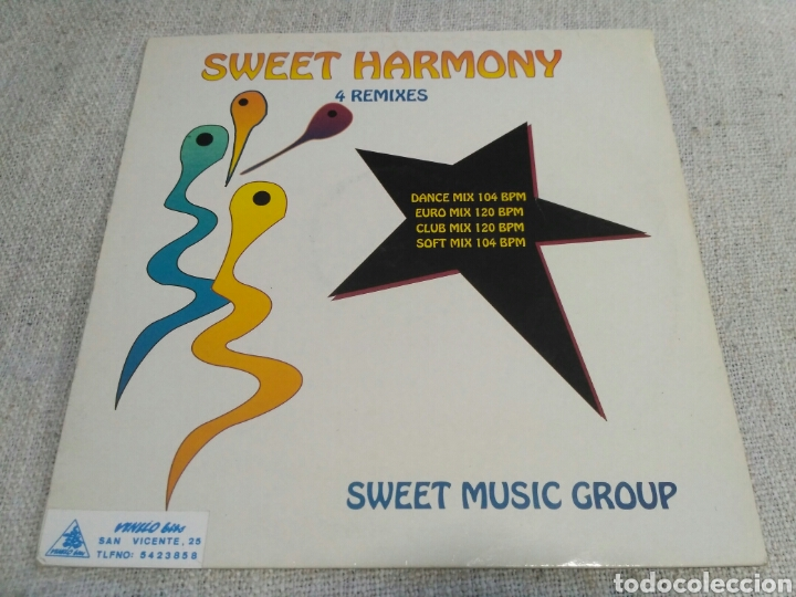 SWEET MUSIC GROUP - SWEET HARMONY (REMIXES) (Música - Discos de Vinilo - Maxi Singles - Disco y Dance)