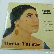 Discos de vinilo: MARIA VARGAS // SOY DE SANLUCAR+3 // 1962 // EP -N. Lote 195380757
