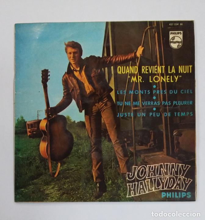 JOHNNY HALLYDAY – QUAND REVIENT LA NUIT. MR LONELY + 3 EP 1965. TDKDS10 (Música - Discos - Singles Vinilo - Canción Francesa e Italiana)