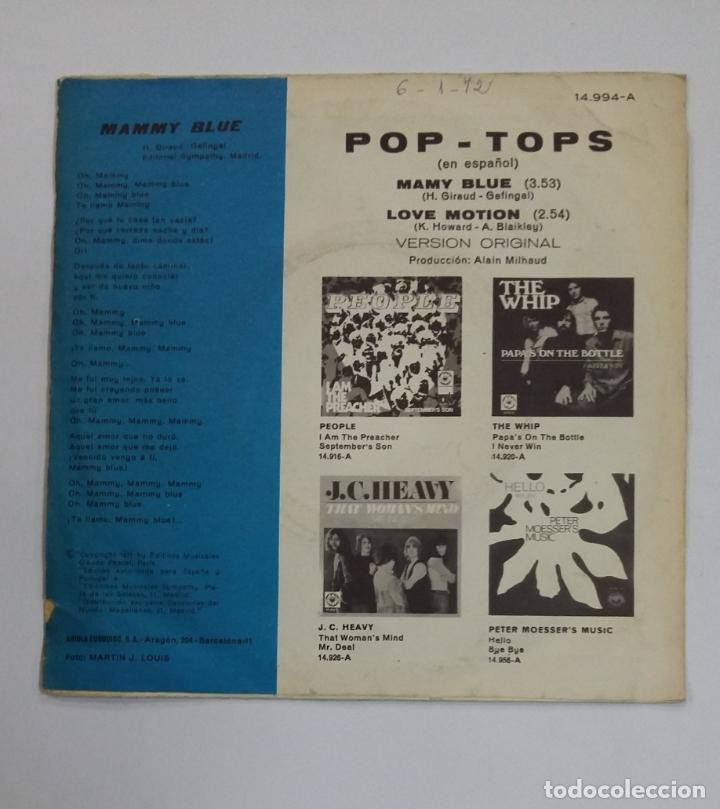 Discos de vinilo: Pop Tops - Mamy blue / Love motion. SINGLE. TDKDS10 - Foto 2 - 195381766