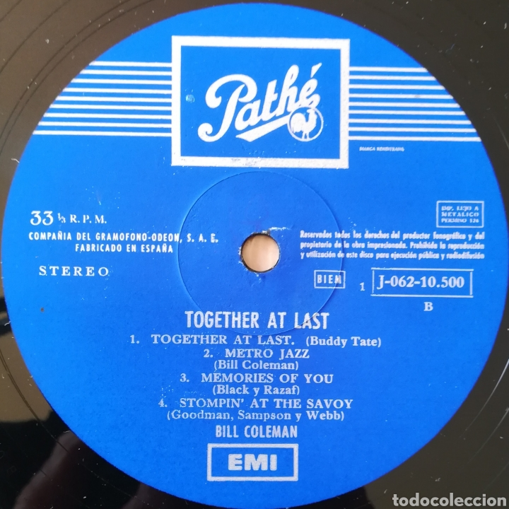 Discos de vinilo: Disco Bill Coleman - Foto 4 - 195381825