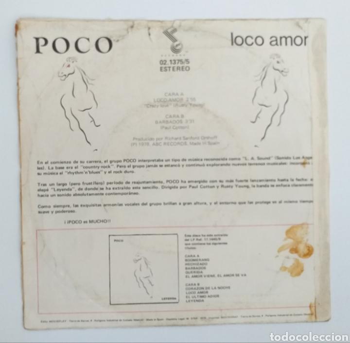 Discos de vinilo: Vinilo single - Poco - Loco Amor 1979 - Foto 2 - 195383270
