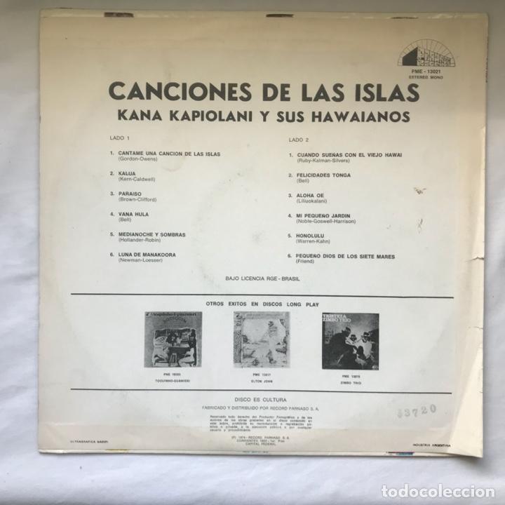 Discos de vinilo: Kana Kapiolani & His Hawaiians – Canciones de las islas 1974 ARGENTINA - Foto 2 - 195383650