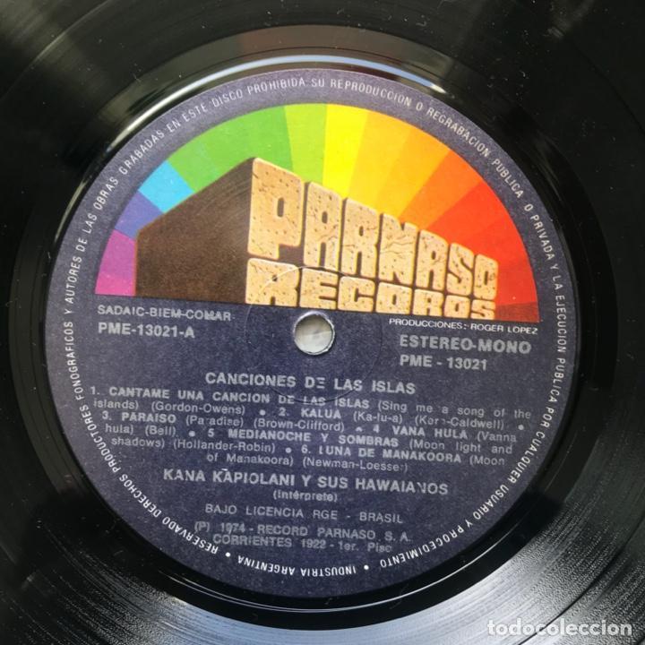 Discos de vinilo: Kana Kapiolani & His Hawaiians – Canciones de las islas 1974 ARGENTINA - Foto 3 - 195383650
