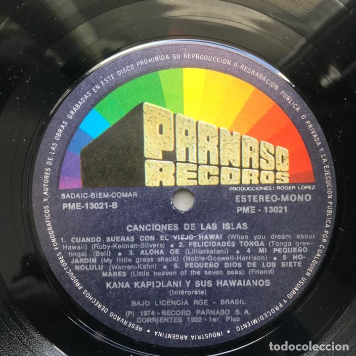 Discos de vinilo: Kana Kapiolani & His Hawaiians – Canciones de las islas 1974 ARGENTINA - Foto 4 - 195383650