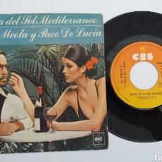 Discos de vinilo: VINILO SINGLE AL DIMEOLA Y PACO DE LUCÍA 1977. Lote 195384190