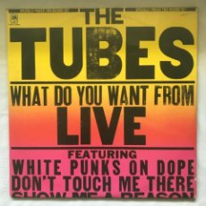 Discos de vinilo: THE TUBES ‎– WHAT DO YOU WANT FROM LIVE GAT 2LP 1978. Lote 195384553