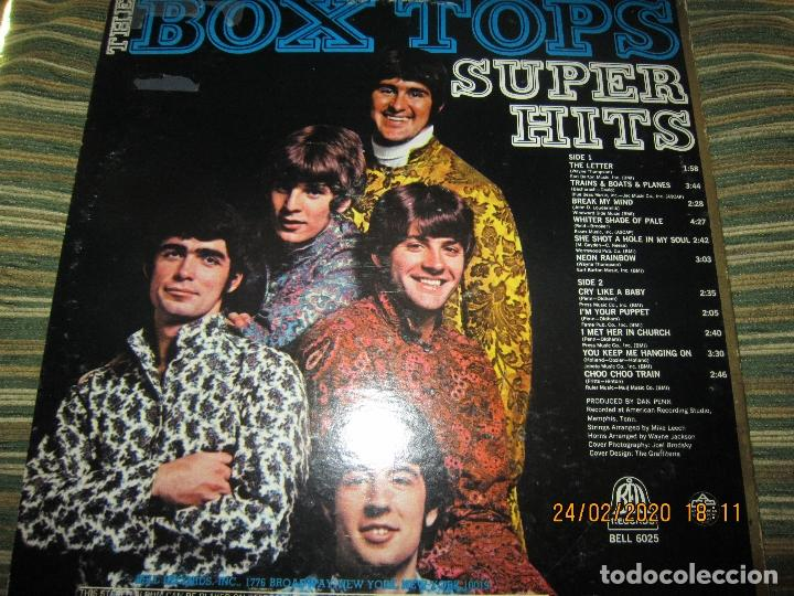 Discos de vinilo: THE BOX TOPS - SUPER HITS LP - ORIGINAL U.S.A. - BELL RECORDS 1975 - STEREO - - Foto 2 - 195384992