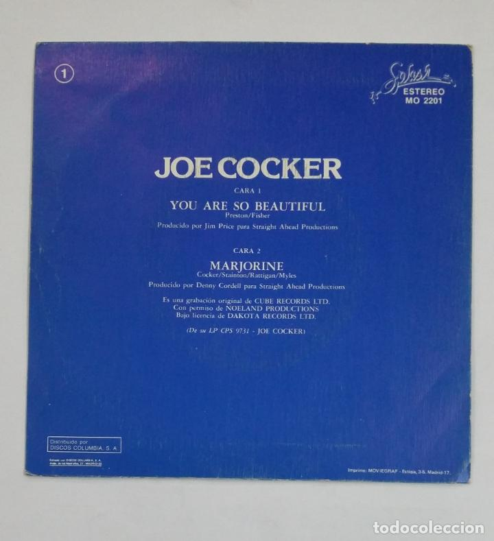 Discos de vinilo: Joe Cocker.- You are so Beautiful. SINGLE. TDKDS10 - Foto 2 - 195386251