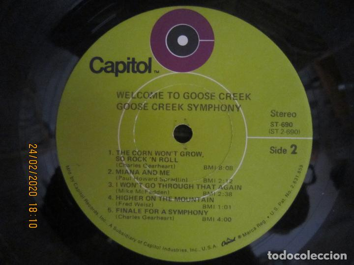 Discos de vinilo: GOOSE CREEK SYMPHONY - WELLCOME TO GOOSE CREEK LP - ORIGINAL U.S.A.- CAPITOL RECORDS 1971 - STEREO - - Foto 14 - 195386600