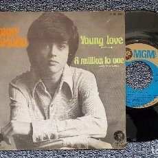 Discos de vinilo: DONNY OSMOND - YOUNG LOVE / A MILLION TO ONE. EDITADO POR MGM. AÑO 1.973. Lote 195387395