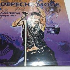 Discos de vinilo: DEPECHE MODE - NOS ALIVE FESTIVAL - 2 LPS. Lote 195388070