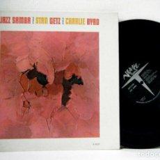 Discos de vinilo: STAN GETZ - JAZZ SAMBA 1962, BOSSA NOVA, RARA 1ª ORG EDIT USA, VERVE RECORDS, DOBLE CARPETA, EXC. Lote 195390736