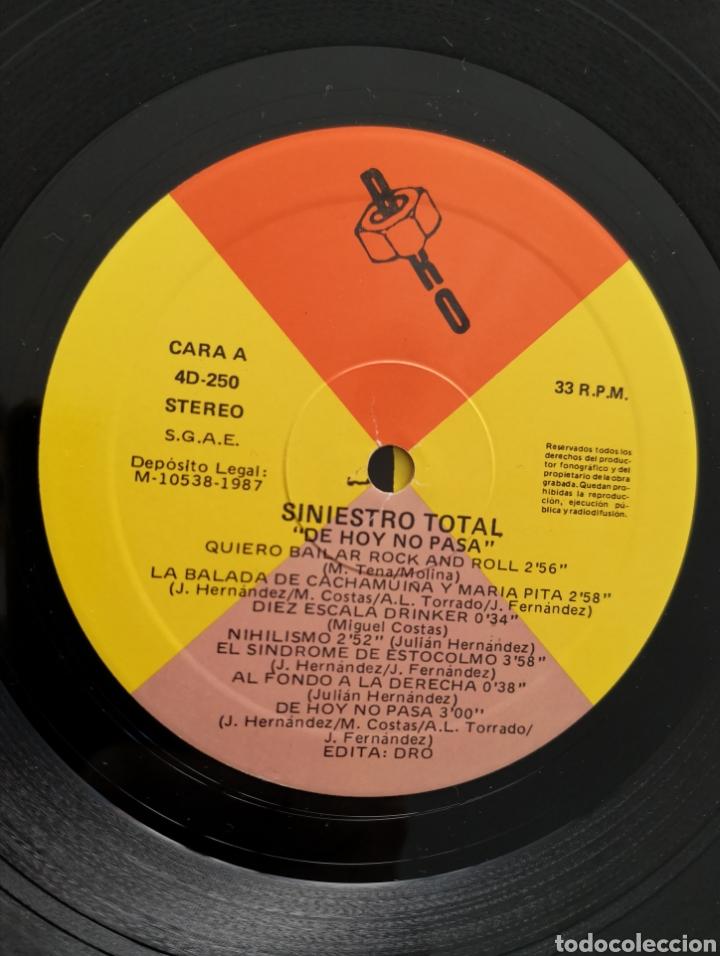 Discos de vinilo: SINIESTRO TOTAL - IMPECABLE - DE HOY NO PASA - Foto 2 - 195391468