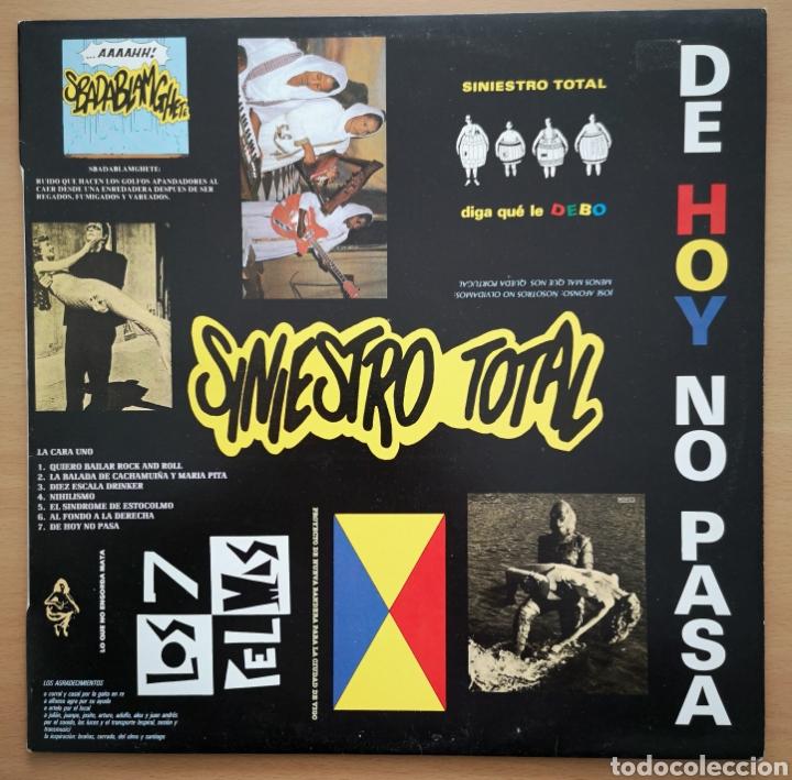SINIESTRO TOTAL - IMPECABLE - DE HOY NO PASA (Música - Discos - LP Vinilo - Grupos Españoles de los 70 y 80)