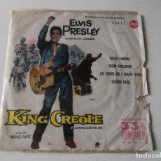 Discos de vinilo: ELVIS PRESLEY / KING CREOLE + 3 (EP ORIGINAL ESPAÑOL 1961). Lote 195391556