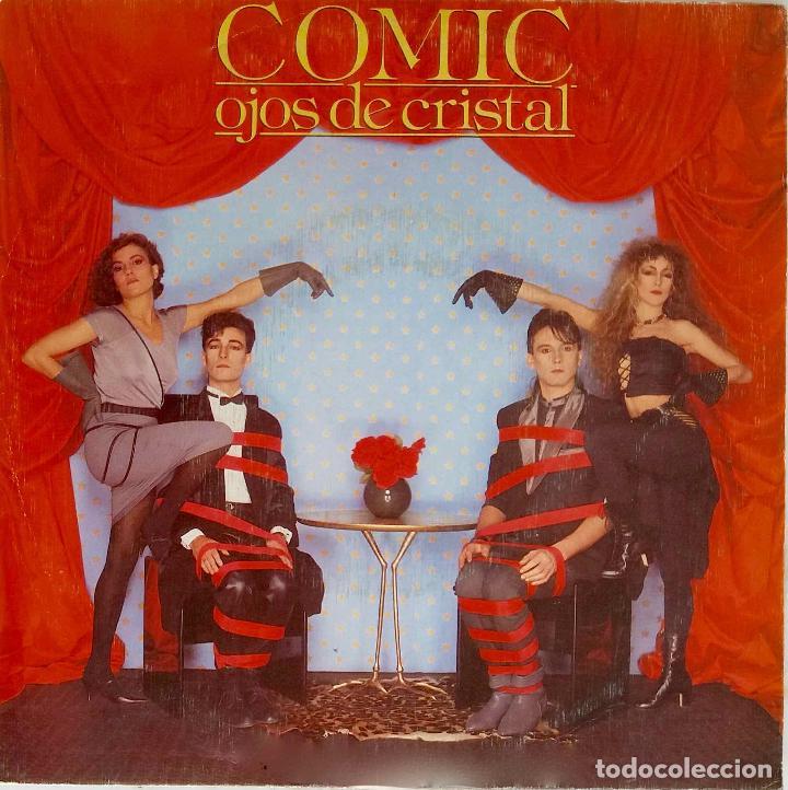 COMIC. OJOS DE CRISTAL. SINGLE PROMOCIONAL LABEL BLANCO UNA SOLA CARA GRABADA (Música - Discos - Singles Vinilo - Grupos Españoles de los 70 y 80)