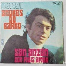 Discos de vinilo: ANDRES DOBARRO - SAN ANTON Y CON MAIS AMOR, AÑO 1970, DISCOS RCA. Lote 195391642