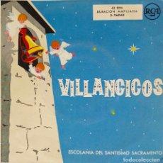 Discos de vinilo: VILLANCICOS. ADESTE FIDELES. ESCOLANÍA SANTÍSIMO SACRAMENTO. EP. Lote 195391652