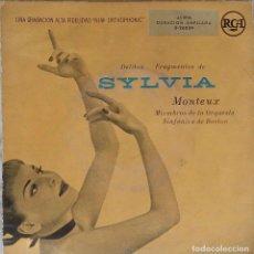 Discos de vinilo: SYLVIA. DELIBES. MONTEUX. EP ESPAÑA.. Lote 195391746
