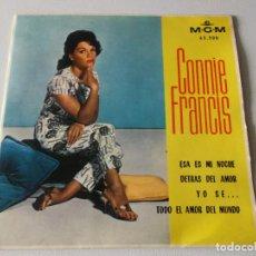 Discos de vinilo: CONNIE FRANCIS - ESTA ES MI NOCHE + 3 ED ESPAÑOLA 1963. Lote 195392673